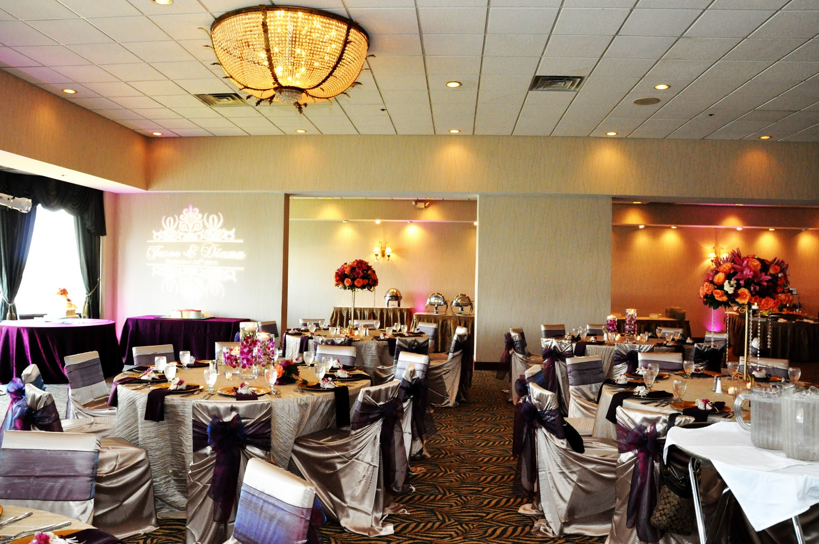 Sangria Tangerine Gold Wedding Reception Decor